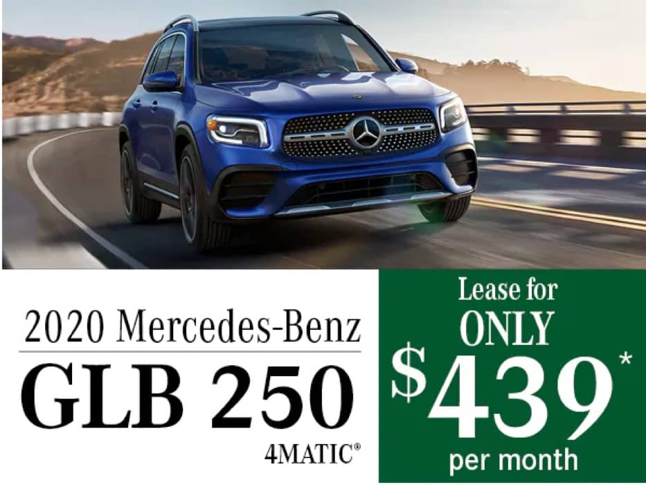 MB Offer Image - 933x700 - 2020 Mercedes-Benz GLB 250 4MATIC® Lease Offer