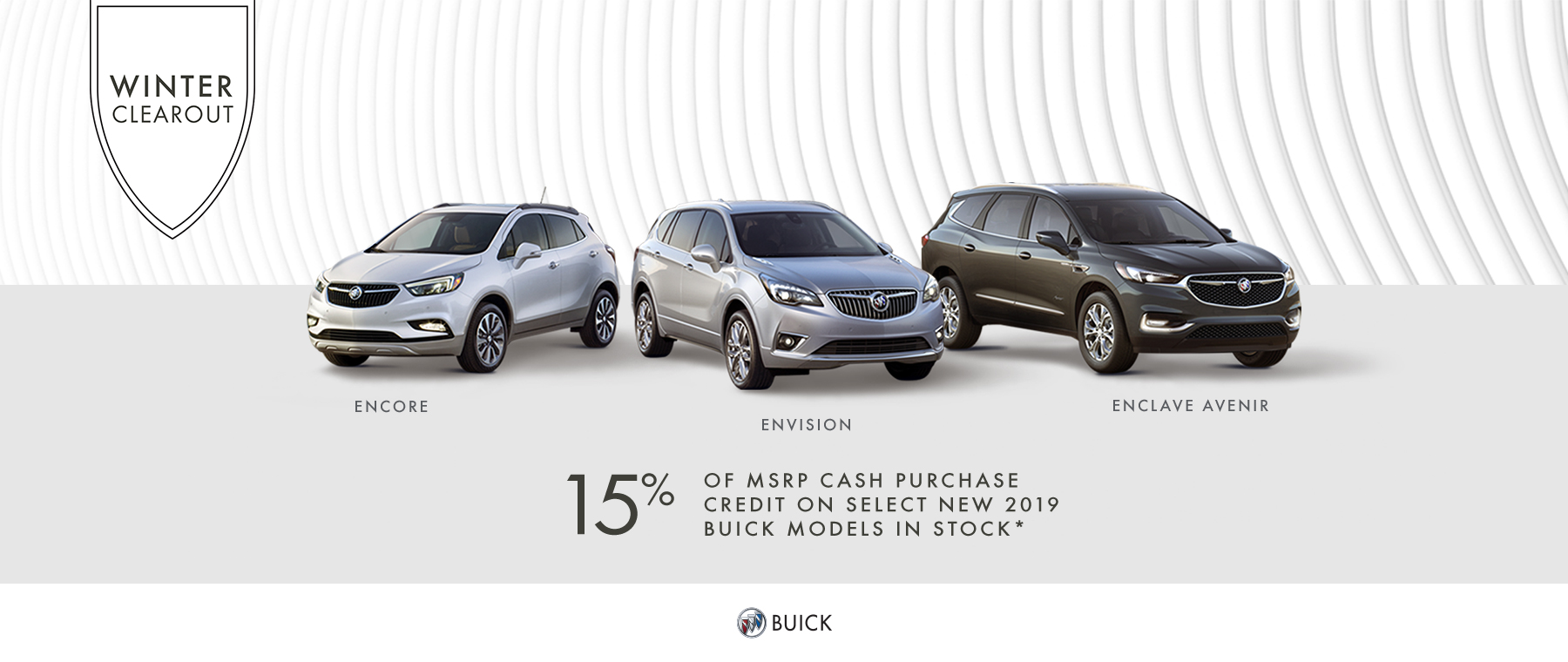 Winter Clearout 2019 Buick Multi-line