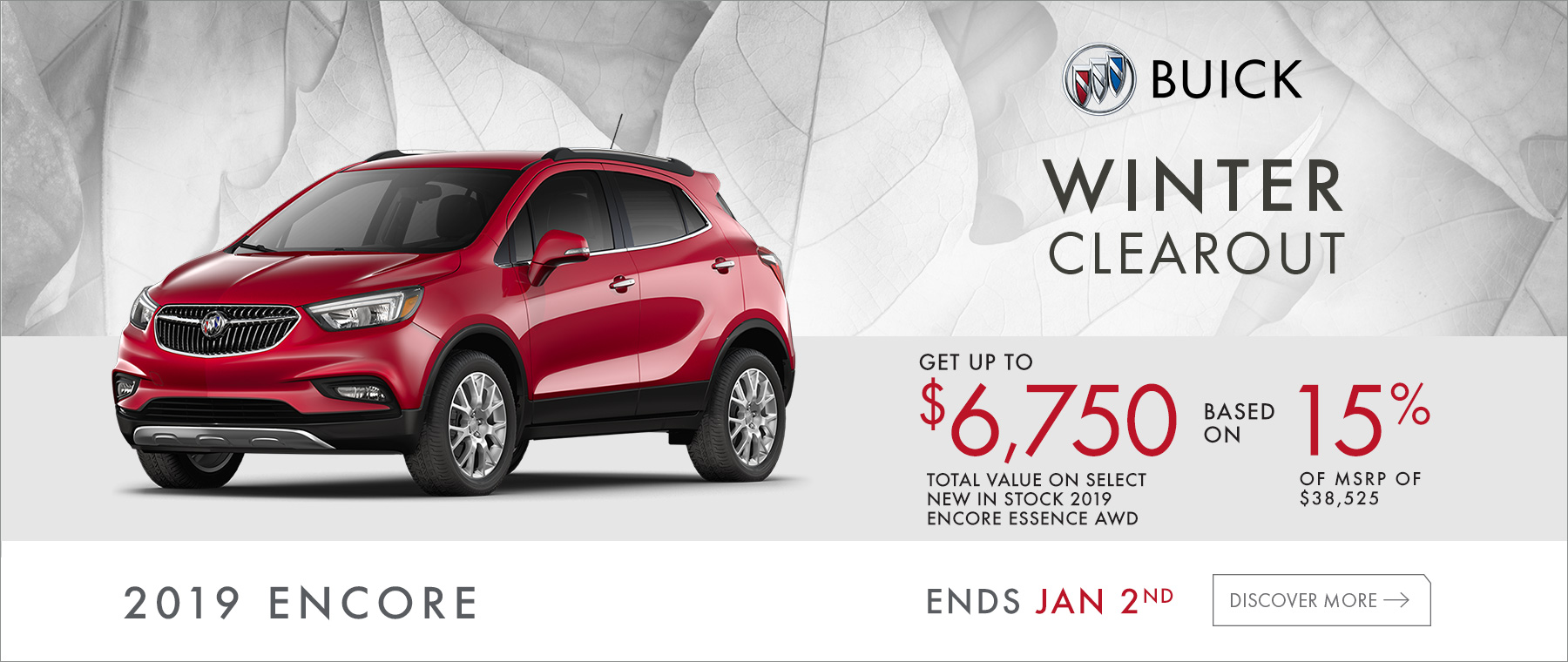 Winter Clearout 2019 Buick Encore