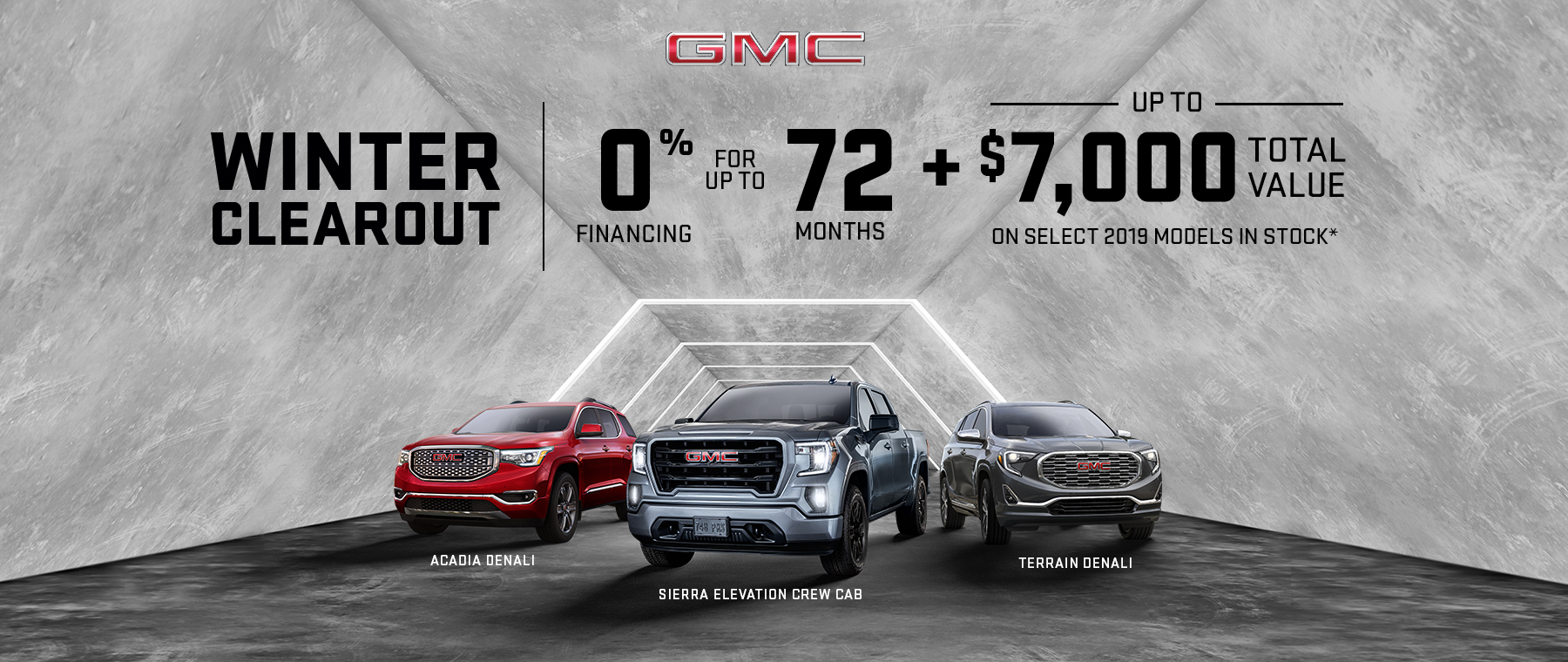 Winter Clearout 2019 GMC Multi-line