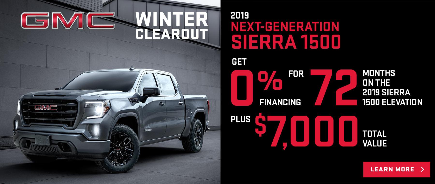 Winter Clearout 2019 Sierra 1500