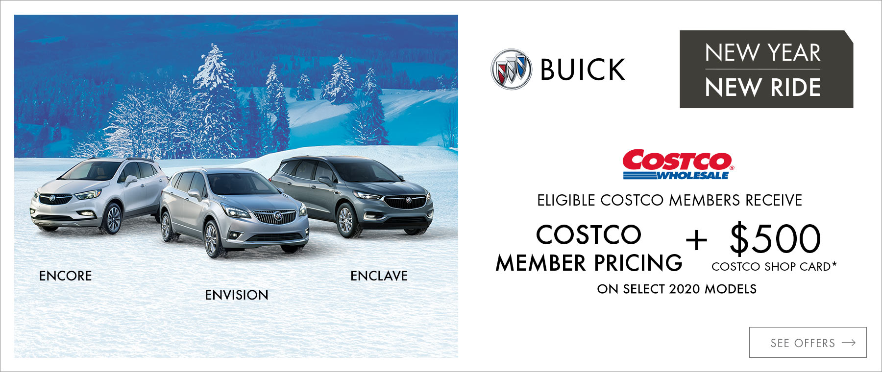 2019 Buick Multiline Costco Member Pricing +5000 Costco Shop Card