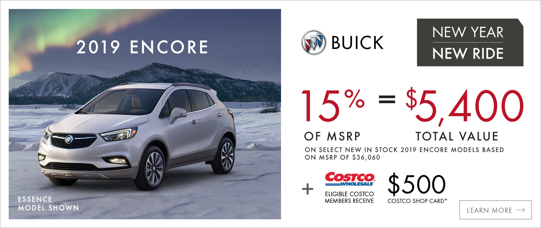 New Year, New Ride 2019 Buick Encore