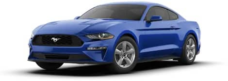 Blue Ford Mustang EcoBoost® Fastback