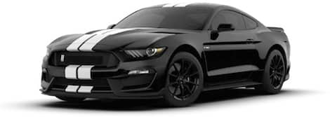 black with white racing stripes Ford Mustang Shelby GT350®