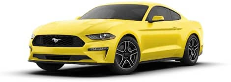 yellow Ford Mustang EcoBoost® Premium Fastback